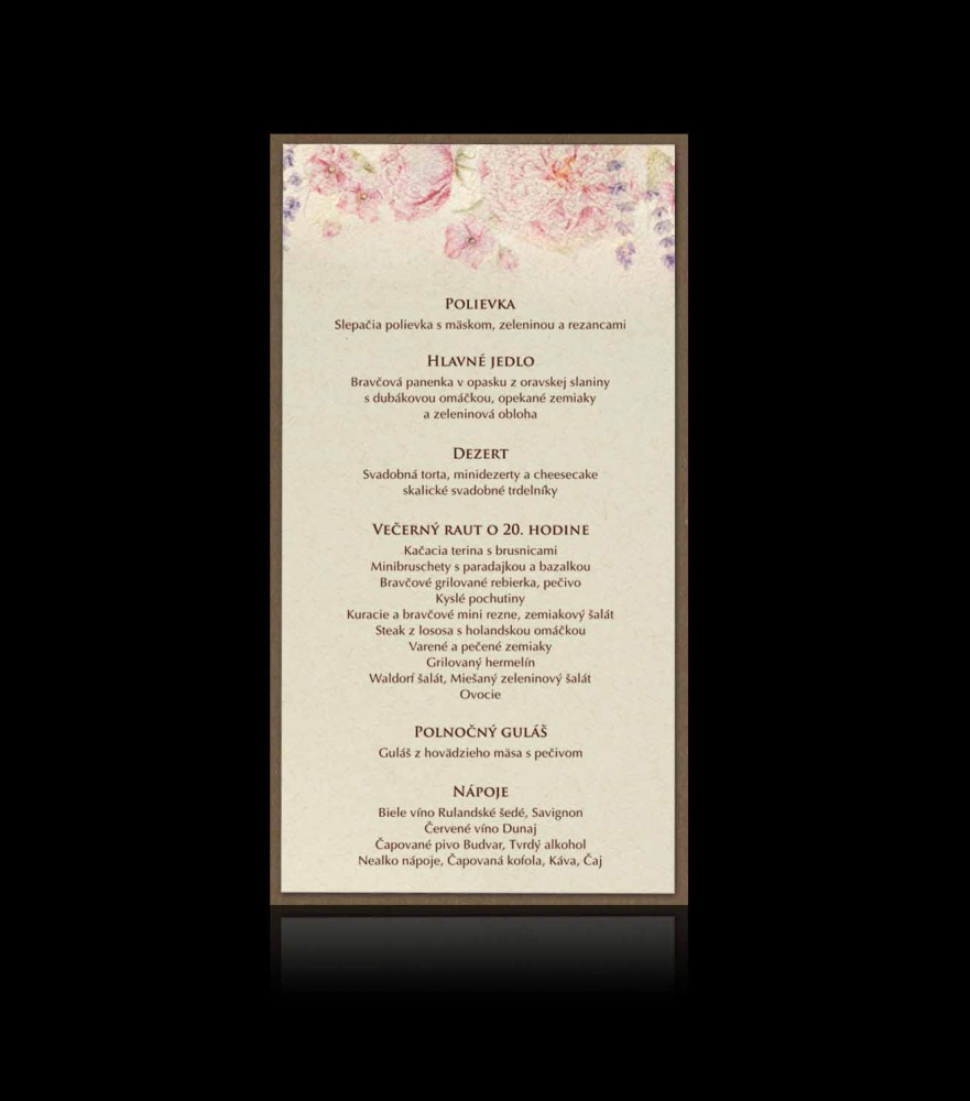 a501a645e8ae Svadobné oznámenie E 2703 - Vintage svadobné oznámenia