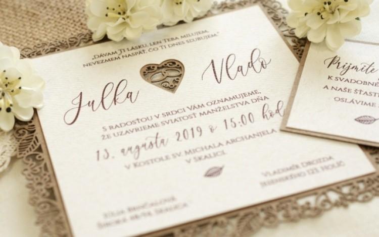 Najkrajšie svadobné oznámenia, kvalitná tlač | Pamas